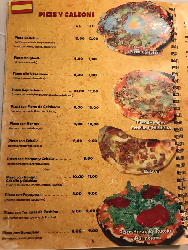 Pizzeria Baffetto Menu