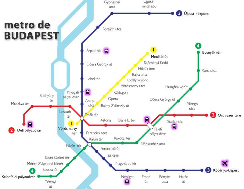 Mapa metro Budapest