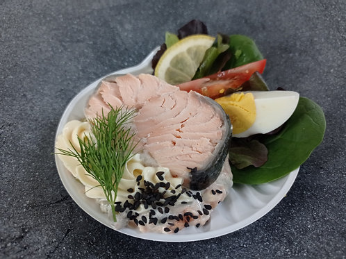 Coquille de saumon ou de sandre