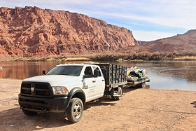river gear truck at Lee's Ferry