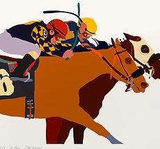 Horse racing art image