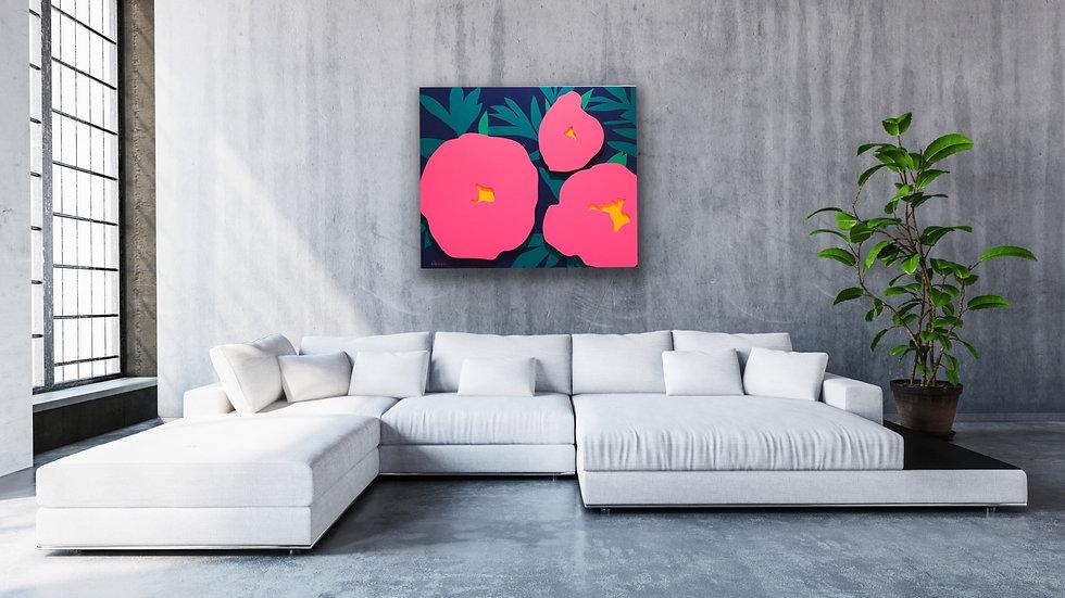 3D wall art for living room