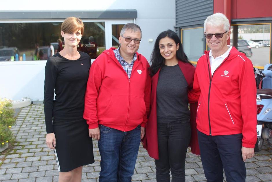 Hadia Tajik på besøk ved ATS Gjøvik/Toten AS!