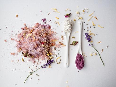 Soothe & Restore flower power bath salts 500g