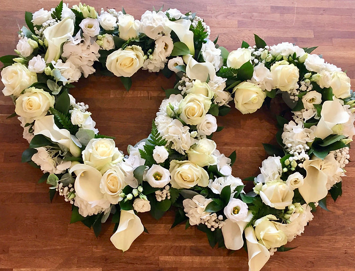 White Open Double Linked Heart