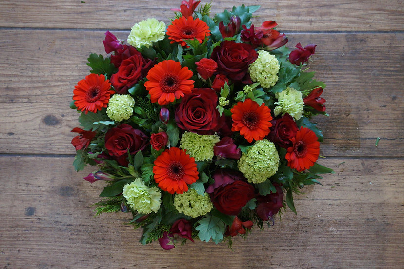 Green & Red Posy