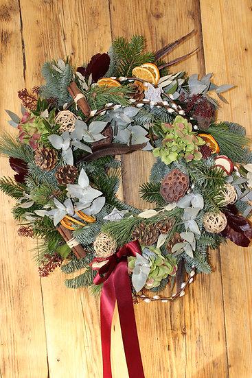 Natural Christmas Door wreath