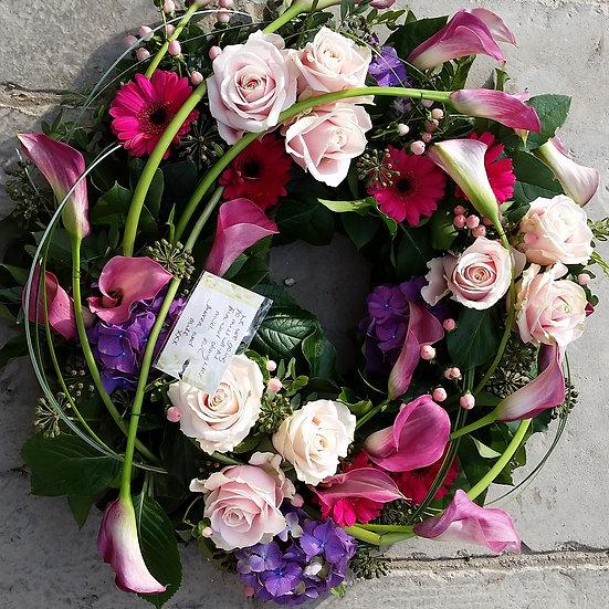 Pink & Purple Loose Wreath