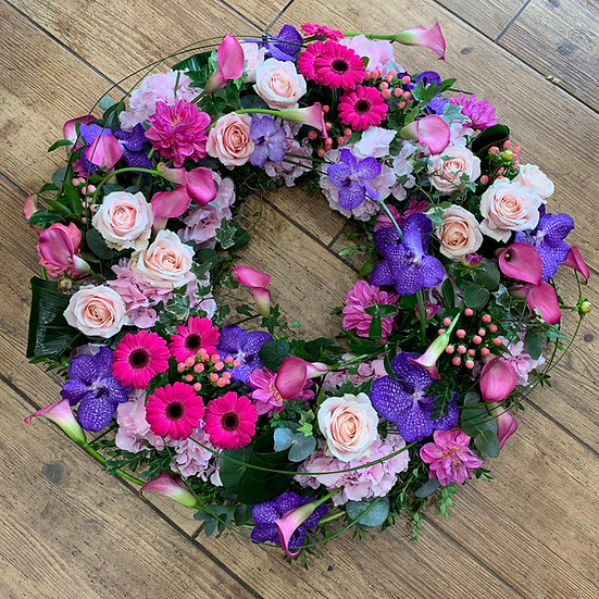 Pink & Purple Loose Wreath