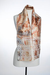 Eco-dyed and printed silk scarf.jpg