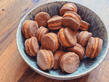 Chocolate Biscuit Peanut Butter Sandwich