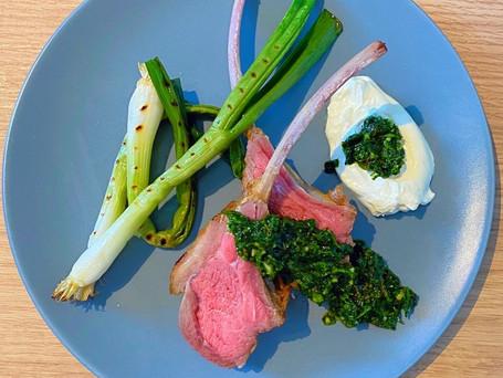 Lamb, Spring Onion & Zhug