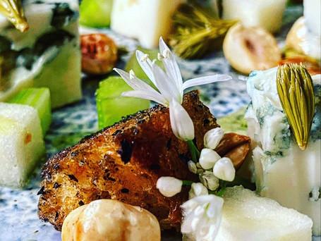 Cheese, Fir, Spruce & Wild Garlic Salad