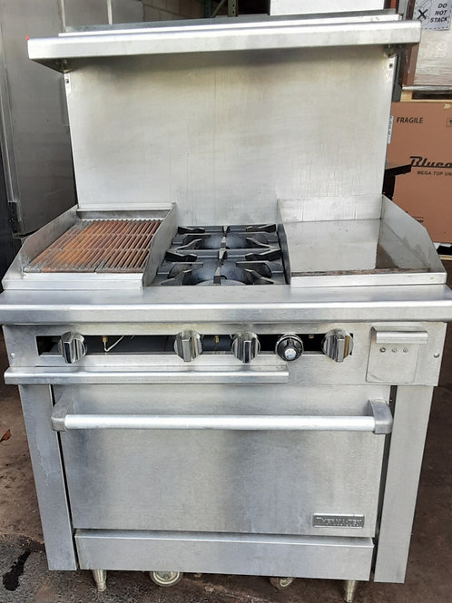Therma-tek Combo Range 12''Grill 2 burners 12'' griddle one oven 36''