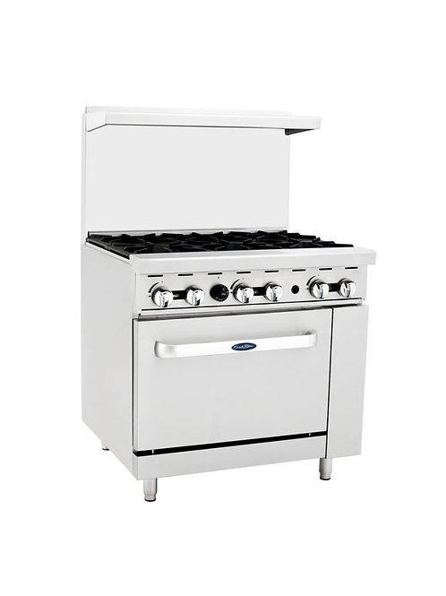 "CooKRite 6 Burner Gas Range 36"" Model ATO-6B"