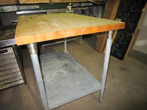 "Butcher Block Table - 48"""