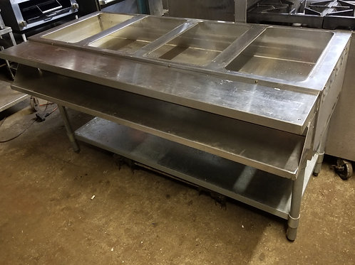 Aerohot gas Steam Table 4 full pans 60''.