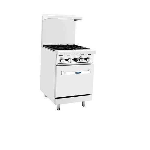 "CooKRite 4 Burner Gas Range 24"" Model ATO-6B"