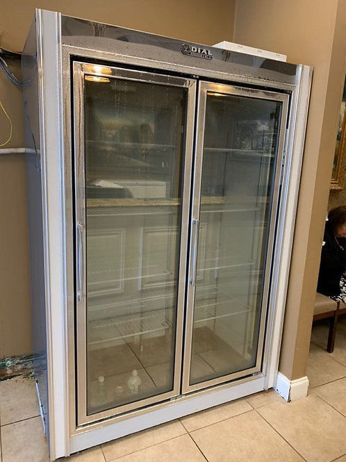 Dial 2 Glass Door Freezer Remote 54''