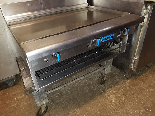 Imperial Griddle with cheese melter 36''