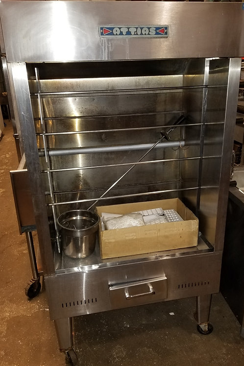 Attias Gas Chicken Rotisserie 30 Birds 46''