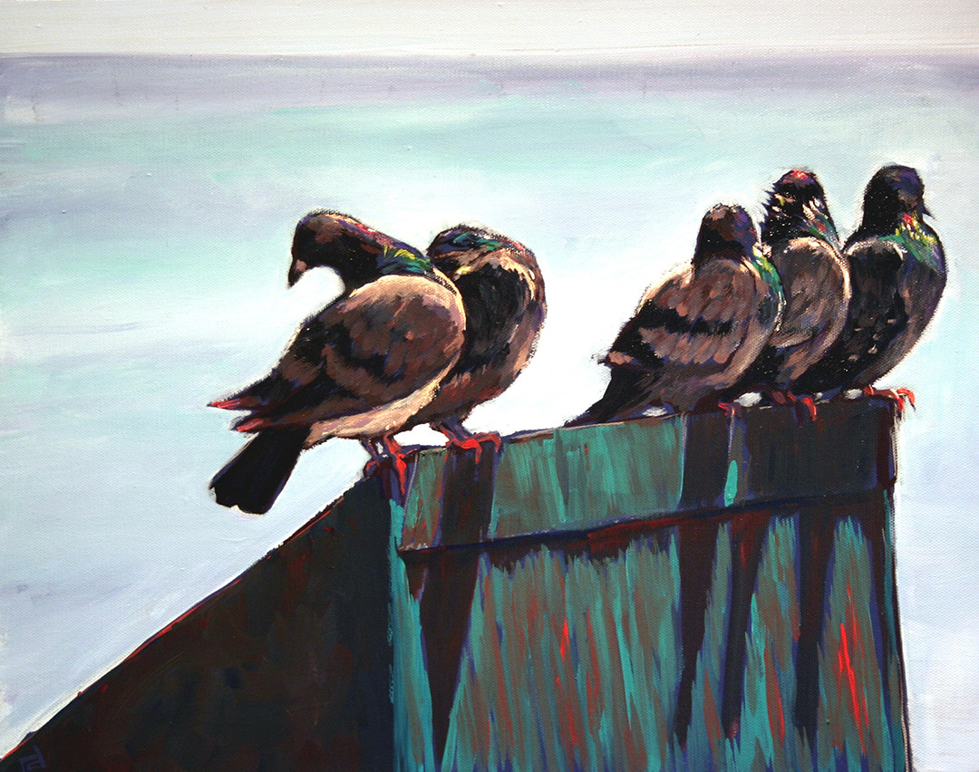 Pigeons over the Pacific