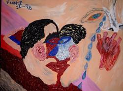 Maldito beijo. 2018. 30 x 50 cm