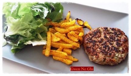Veggie steak et frites de légumes