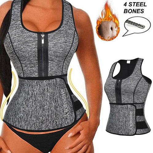Slimming Vest Adjustable Waist Trimmer Belt Tank Top Shapewear