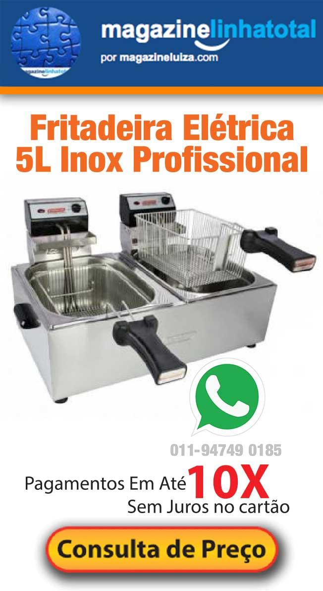 Fritadeira Elétrica 5L Inox Profissional