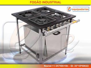 Fogão Industrial de 4 bocas 1 forno