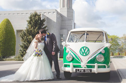 VW Campervan outside Preston Temple