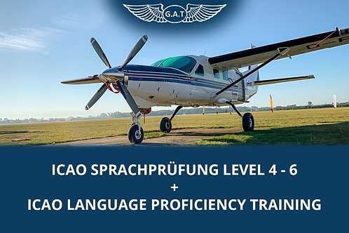ICAO Sprachprüfung Level 4 - 6 + ICAO Language Proficiency Training