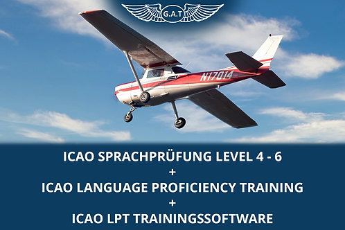 ICAO Sprachprüfung Level 4 - 6 + ICAO Language Proficiency Training + Software