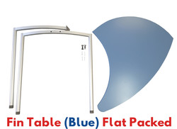 Fin Table Flat Packed Blue