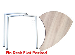 Fin Desk Flat Packed