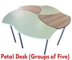 Petal Desks Goups of 5