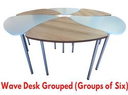 Wave Desk Grouped