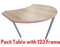 Pacit Table with 123 Frame