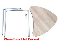 Wave Desk Flat Packed