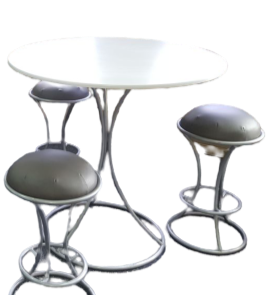 Ring Table (shown with Ring Chairs)