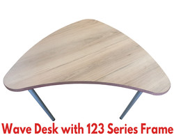 Wave Desk with 123 Series Frame