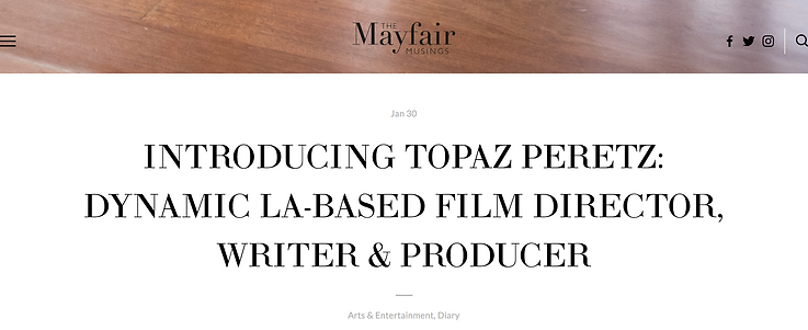 The Mayfair Musings Article