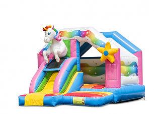 Slide combo Unicorn springkasteel eenhoo