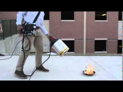 sound powered fire extinguisher