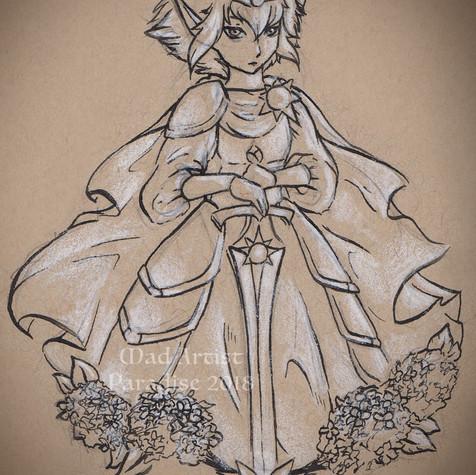 Light Elf with Hydrangea