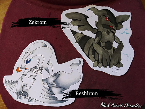 Chibi Reshiram and Zekrom
