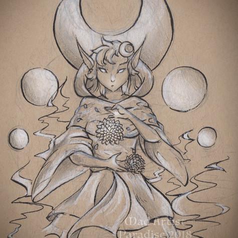 Dark Elf with Dahlia