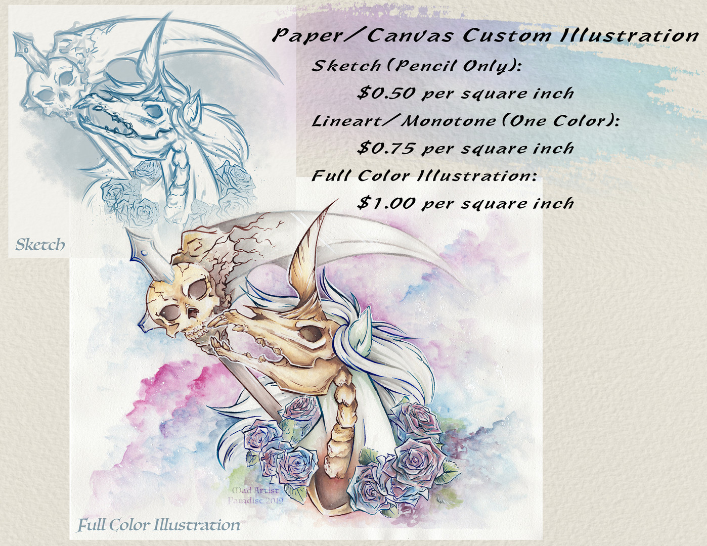 Paper/Canvas Pricing