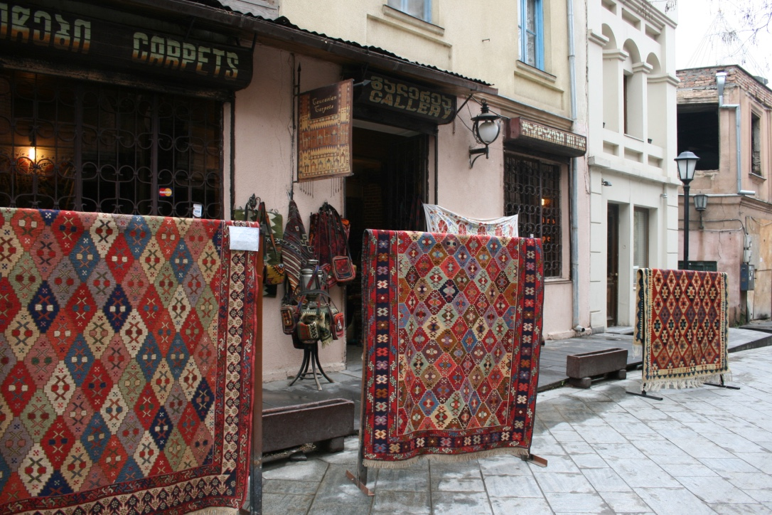 Carpet shop in Old Town of Tbilisi
